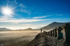 Photographer In Action II Mt Bromo - null