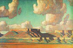 """Maynard Dixon (1875-1946)    """"Remembrance of Tusayan, No.2"""""""