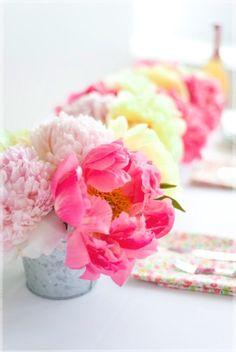 Pretty Pink Flowers In Vases Via Richesforragstumblr