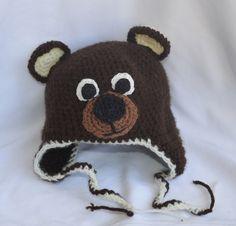 handmade crochet teddy bear hat