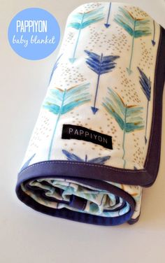 Made to Order  Organic Cotton Baby Blanket  Large by Pappiyon, $69.95