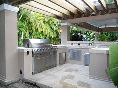 Outdoor Kitchen Pergola Built-in Grill | South Florida outdo… | Flickr