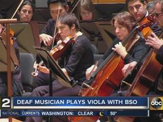 Music isn't just for people who can hear. Wendy Cheng is proving that. She's deaf -- but she can play the viola.