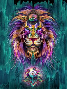 Spiritual // leo // lion // everything is connected // courage // creative
