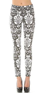MinkPink The Reflections Printed Jeans - ShopStyle Cropped Denim Patterned Jeans, Love Jeans, Minkpink, White Patterns, Platform Pumps, Urban Fashion, Looks Great, Crop Tops, Printed