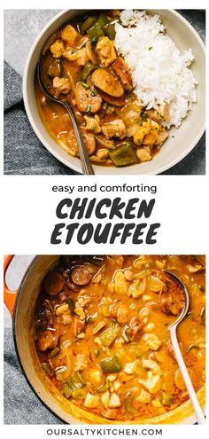 Grilled Chicken Recipes, Baked Chicken, Chicken Etouffee, Kid Friendly Chicken Recipes, Spicy Stew, Interesting Recipes, Bell Pepper, Rice Dishes, Main Courses