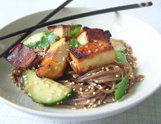 Otsu- cold buckwheat and tofu salad