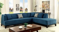 Sofia II Sectional Sofa - CM6861TL Description : This L-shaped sectional makes the most of a space-conscious home with its convenient corner design. The smooth fabric upholstery showcases welted edges