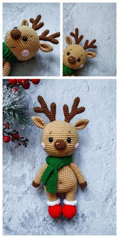 2019 All Best Amigurumi Crochet Patterns - Amigurumi Free Pattern The most admired amigurumi crochet toy models in 2019 are waiting for you in this article. The most beautiful amigurumi toy patterns are all on this site. Crochet Amigurumi Free Patterns, Christmas Crochet Patterns, Holiday Crochet, Crochet Dolls, Amigurumi Tutorial, Crochet Deer, Cute Crochet, Crochet Animals, Knit Crochet