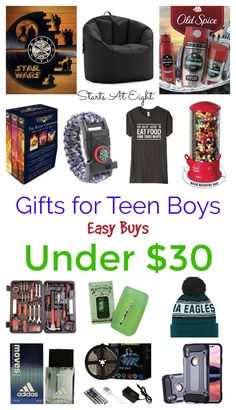 Easy Buys Under 30 Gifts For Teen Boys From Starts At Eight Pick Up Something Meaningful Enjoyable And Wallet Friendly The Boy In Your Life