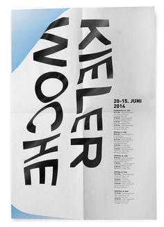 Kiel Sailing Week Poster by Sam Wood, via Behance