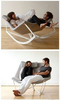 What a neat idea for a cozy couples chair