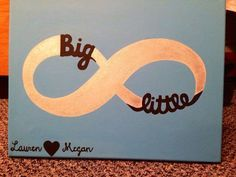 infinity+ big and little =sisters 11 Adorable DIY Gifts for Your Sorority Little Her Campus Big Little Week, Big Little Gifts, Big Little Reveal, Little Presents, Gifts For Big, Little Sister Gifts, Craft Gifts, Diy Gifts, Kappa Alpha Theta