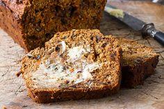 Super bran breakfast loaf ( with dates, bananas, carrot, walnuts) Loaf Recipes, Banana Bread Recipes, Baking Recipes, Pastry Recipes, Free Recipes, Sweet Loaf Recipe, Date And Walnut Loaf, Healthy Baking, Healthy Food