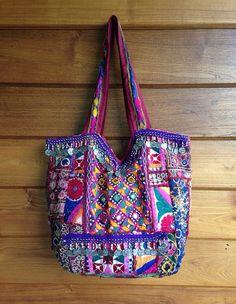 Vintage+Indian+Banjara+Tribal+Fabric+Tote+Bag+by+LavishLanna