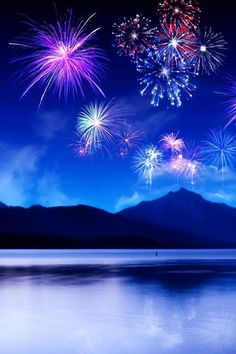 Blue Fireworks | Blue fireworks backgrounds iPhone wallpapers, Background and iPhone 4 ...