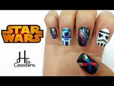 Decoración de uñas Star Wars - Star Wars nail art - YouTube