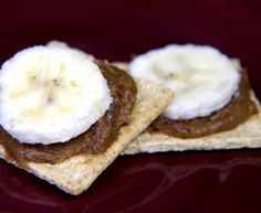 Late night snacking (It happens). Make it Low Calorie Raisin, Applesauce, Peanut Butter Spread with banana slices on whole grain cracker or toast. Keep the spread in the fridge so it's there when you need it.