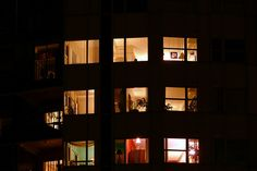Nice Night Windows: University Club Tower   Tulsa   Windows Filled With Light And  Everyday Life | PG.3~ LOOKING THROUGH NIGHT WINDOWS 3 | Pinterest