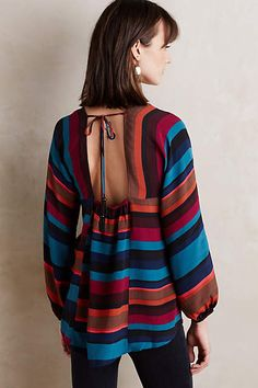 Nika Tie-Back Blouse - anthropologie.com