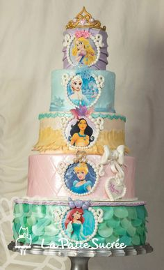 This is a five tiers cake with all her favorite...