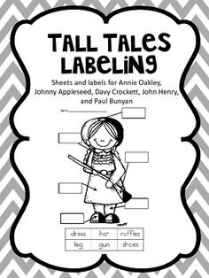 tall tales labeling label sheetsdavy crockettpaul