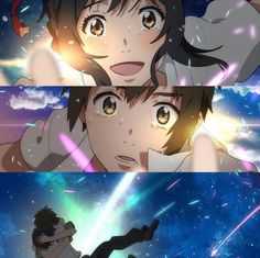 君の名は ~ Kimi No Na Wa After Story : Moments after the Meeting (Final) ~ All new things. Otaku Anime, Manga Anime, Anime Art, Kimi No Na Wa, Your Name Movie, Your Name Anime, Me Me Me Anime, Anime Love, Makoto Shinkai Movies