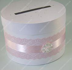 Сундучок на свадьбу Свадебный блеск розовый белый