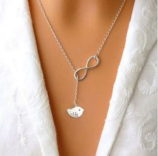 """New Charm Lovely Silver Owl Pendant """"8""""Long Chain Necklace For Girl Nice Gift"""