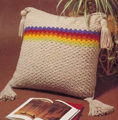 NEW! Floor Pillow crochet pattern from Gift Ideas & Great Ideas, Leaflet No. 2633.