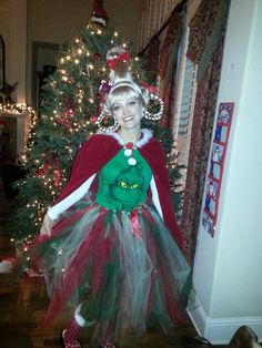 Whoville hair and makeup tutorial free grinch mask third cindy lou who costume grinch tutu solutioingenieria Gallery