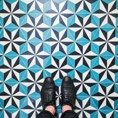 The stunning Parisian floors will inspire you to watch your step