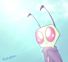 by InterstellarDream on DeviantArt; gah their art is the best Best Cartoons Ever, Cool Cartoons, Invader Zim Characters, Ship Art, Looks Cool, Pastel Colors, Paper Dolls, Pikachu, Nerd