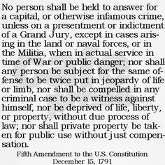 Image detail for -picture to represent the fifth amendment because ...