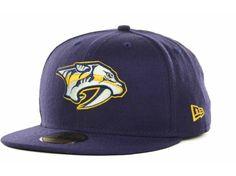 Nashville Predators New Era NHL NEFS Basic 59FIFTY Cap Hats Predator c9e0ced32eb