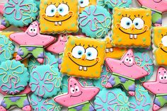 I absolutely hate Sponge Bob the cartoon but these cookies are awesome!