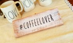 COFFEE LOVER Check out this item in my Etsy shop https://www.etsy.com/listing/504177047/coffee-lover-sign-coffeelover-but-first  #trashfindredesigned
