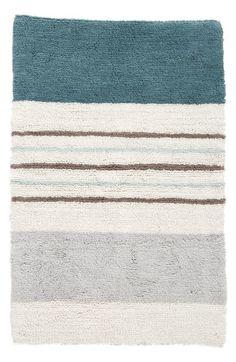 AM Home Textiles Multi Stripe Hand Tufted Cotton Bath Rug