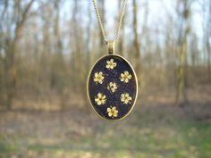 Real flower necklace  Elderflowers like polka by SnippetsOfNature