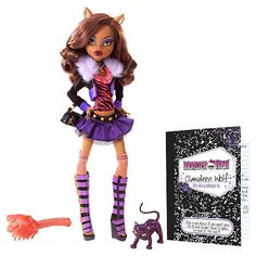 MONSTER HIGH CLAWDEEN WOLF 1ST WAVE ORIGINAL DOLL WITH PET *NEW* FREE SHIPPING*