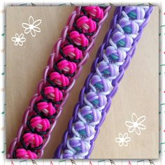 """Can be made with most standard looms. *Zuzu* New """"Wack a Mole"""" Rainbow Loom Bracelet/How To Tutorial"""