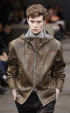 Hermes Fall-Winter 2010 hooded croco jacket