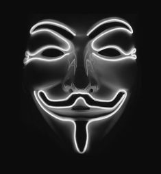Anonymous Hacker Light Up Mask. Looking for the ultimate scare factor? Scary Halloween Masks, Scary Mask, V Pour Vendetta, Mask Guy, Love Wallpaper Backgrounds, Wallpapers, Guy Fawkes Mask, Anonymous Mask, Scary Drawings