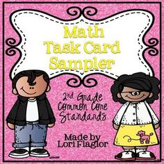 FREEBIE- Math Task Cards Sampler with QR Codes A great freebie.  Lori Flaglor has awesome task cards!