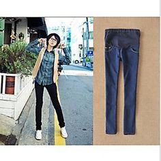 Maternity  Blue Black Skinny  Belly Jeans