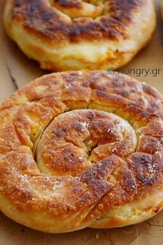 Coiled Cheese Pie from Skopelos Island – Tammy Altiparmak – … – stan goodwin 202 – macedonian food Auntie Annes Pretzels, Appetizer Recipes, Dessert Recipes, Macedonian Food, Cheese Pies, Food Tags, Island Food, No Cook Desserts, Middle Eastern Recipes