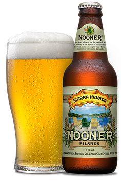 Cerveja Sierra Nevada Nooner Pilsner, estilo German Pilsner, produzida por Sierra Nevada Brewing Company, Estados Unidos. 5.2% ABV de álcool.