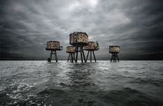 The Maunsell Forts in the Thames estuary that once protected the UK during World War II. | 18 Beautifully Haunting Abandoned Places Around The World