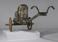 Chariot, late 6th century b.c.  Etruscan; From Monteleone, Italy  Bronze