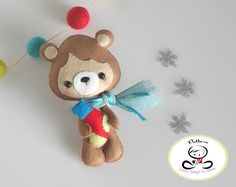 Little Bear-Christmas Ornament PDF Sewing by LittleThingsToShare